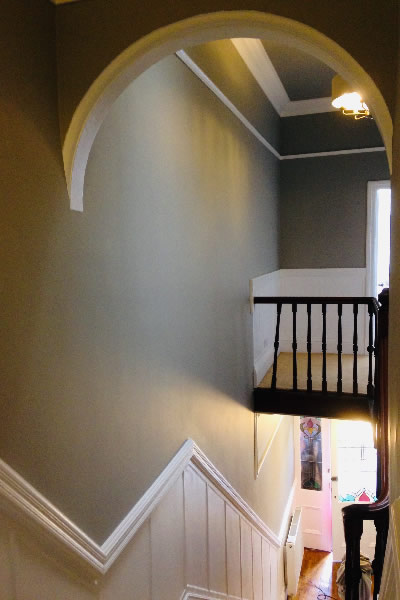 interior painting domestic stairwell